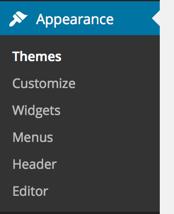 wordpress-appearance-menu
