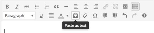 Paste as text