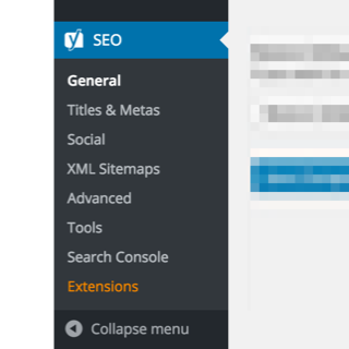 Yoast SEO in the admin screens